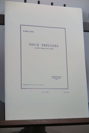 Husa K - Deux Preludes for Flute Clarinet & Bassoon